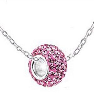 Gold Plated High Shine CZ Charm Necklace October